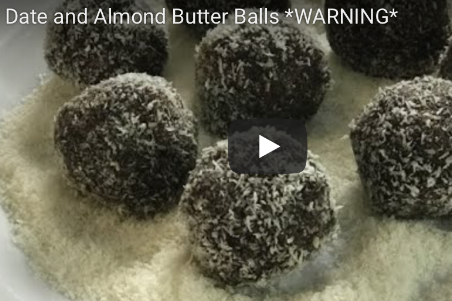 Date and almond butter balls *warning*