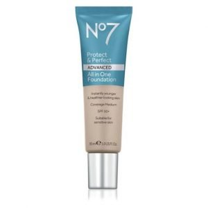SPF makeup No7 Protect & Perfect ADVANCED All in One Foundation