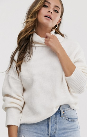 Fluffy jumper in recycled blend, £25