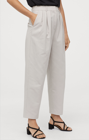 Grey twill trousers, £39.99
