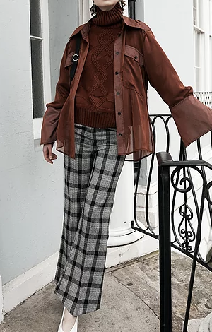 Checked tailored trousers, £16.50