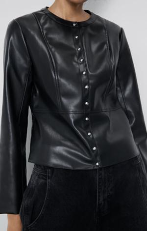 Faux leather jacket, £25.99