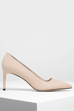 Nude Classic Pointed Courts, £55, Charles & Keith