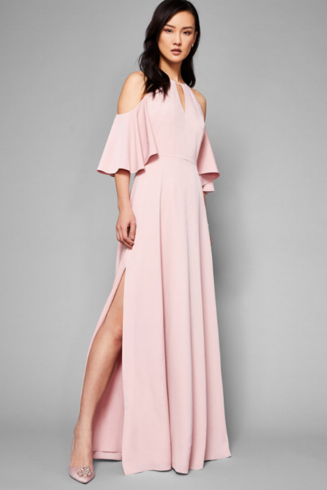Cut out shoulder maxi dress, £135, Ted Baker