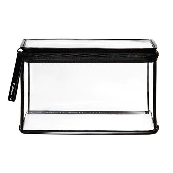 Clear makeup bag, £19, MAC