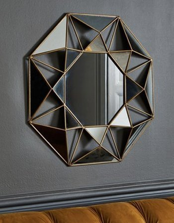 Faceted mirror, £60, Next