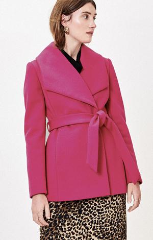 Short Wrap Coat, £80, Oasis