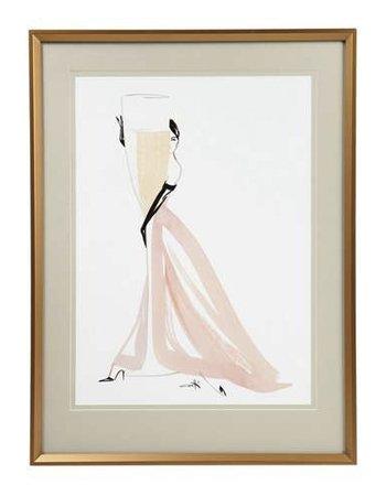 Champagne Framed Print, £35.00, Dunelm
