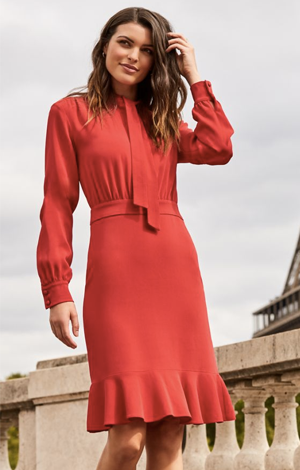 Red Fit And Flare Dress, £69, Sosandar