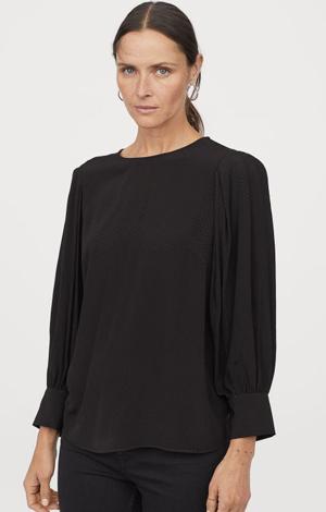 Balloon-sleeved blouse, £17.99 H&M