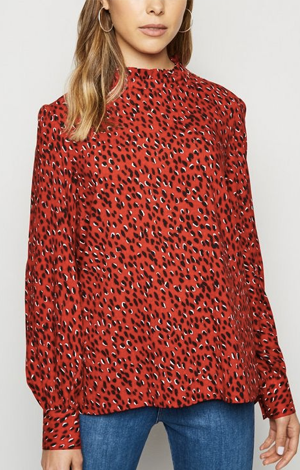 Red Spot Balloon Sleeve Blouse, £19.99, New Look