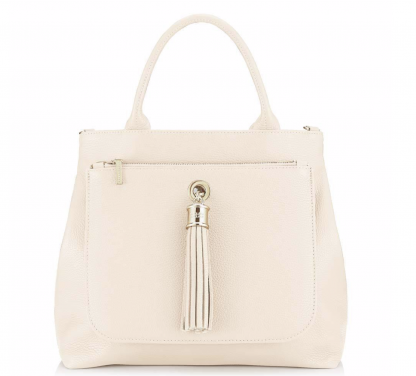 Dahlia 2-in-1 Leather Tote -Off White 1