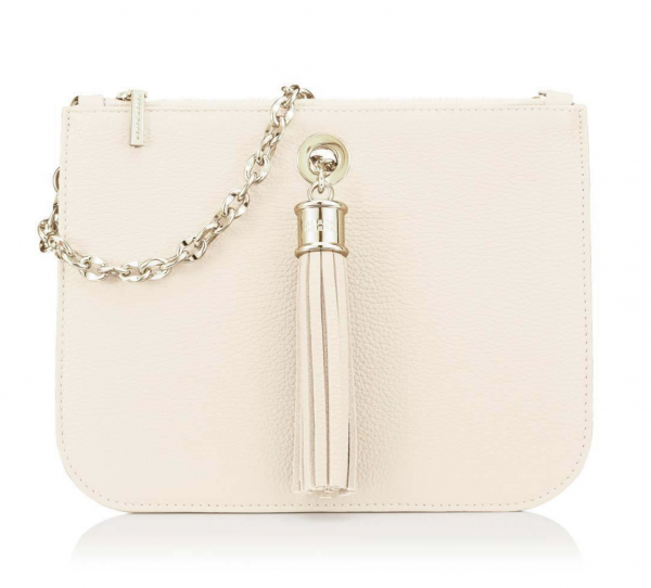 Dahlia 2-in-1 Leather Tote - Gold -Off White 3