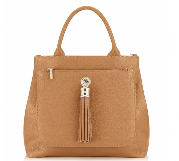 Dahlia 2-in-1 Leather Tote - Gold -Tan 1