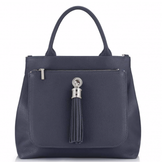 Dahlia 2-in1 Leather Tote – Navy