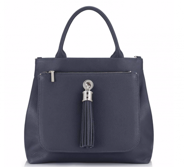 Dahlia 2-in-1 Leather Tote - Navy 1