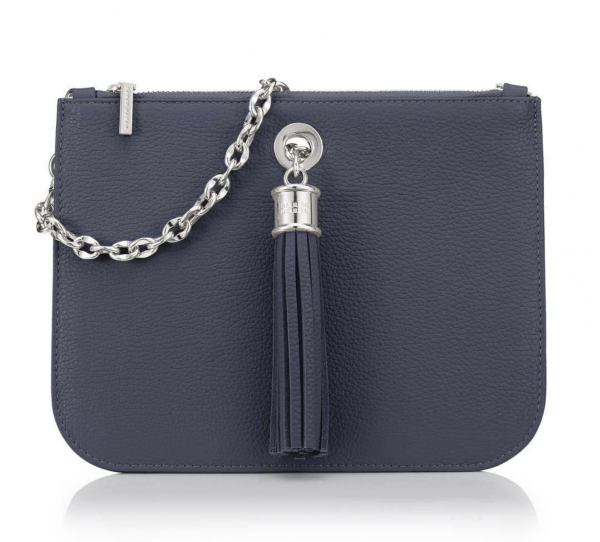 Dahlia 2-in-1 Leather Tote - Navy 3