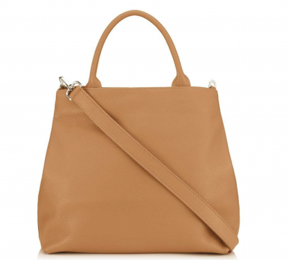 Dahlia 2-in-1 Leather Tote - Tan 2