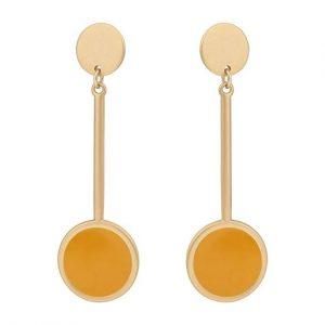 Brielle Yellow Long Drop Earrings