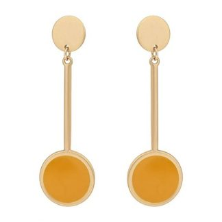Brielle Yellow Long Drop Earrings