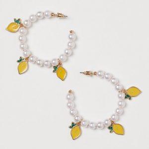 H&M Lemon earrings