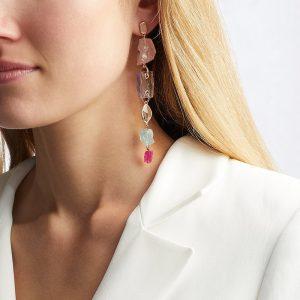 Caroline Issa Gemstone Cocktail Earrings