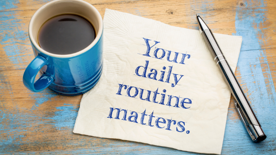 Creating a daily routine can help with post-lockdown anxiety