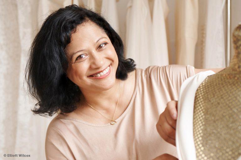 Bridal designer Sabina Motasem is this month's girl on fire