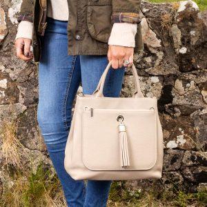 Dahlia 2-in1 Leather Tote – Off White
