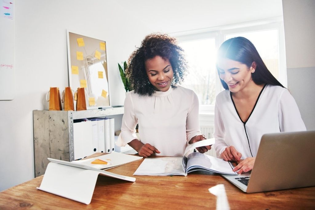 Collaborating with other women is a great way to help