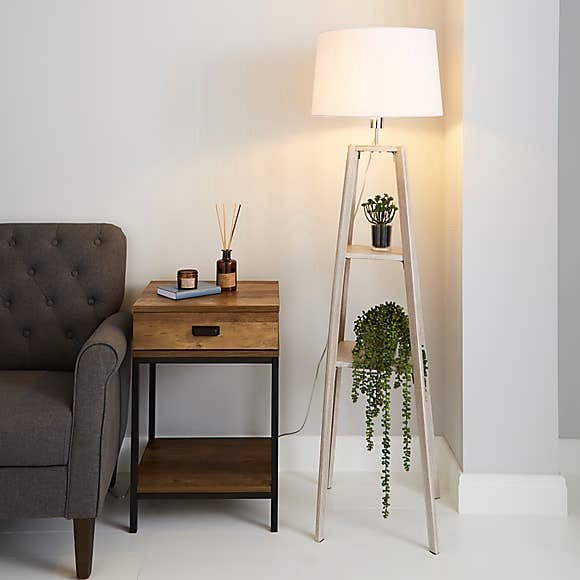 Light up a dark corner with a floor lamp