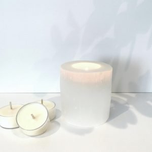 Naturally Essential Selenite Tealight Holder