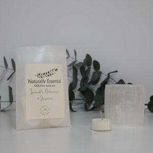 Naturally Essential Selenite Tealight Holder