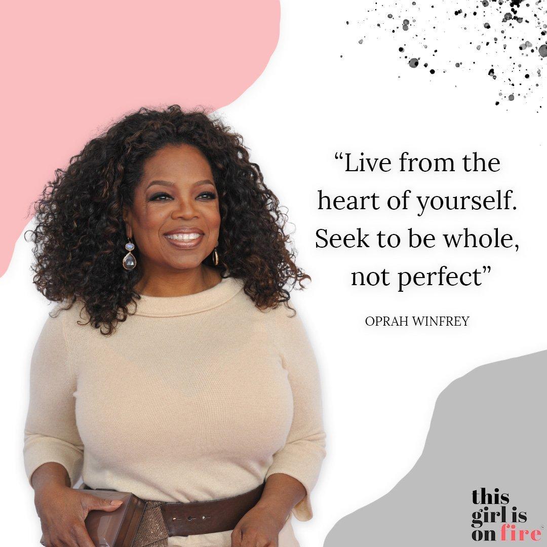 Oprah Winfrey Perfection Quote