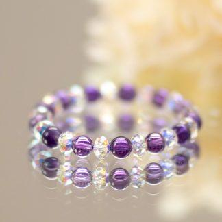 Amethyst & Swarovski Crystal Bracelet