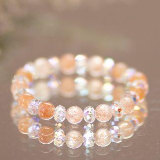 Sunstone & Swarovski Crystal Bracelet