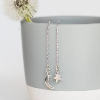 Star Moon Drop Earrings