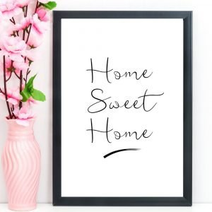 Home Sweet Home Print, A4