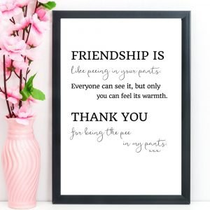 "Friendship Print, Quote, ""Friendship is like"", A4"