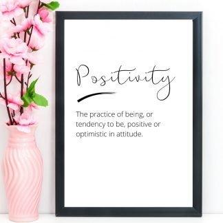 Positivity – Word Definition Print, A4