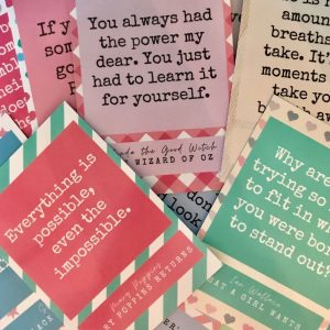 Motivational Movie Quote Postcards Set  – Without envelopes