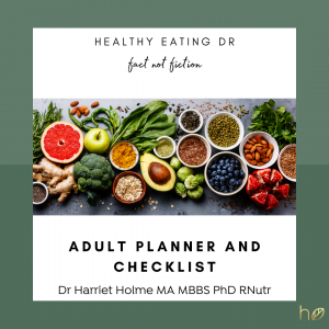 FREE Adult Nutrition Planner And Checklist