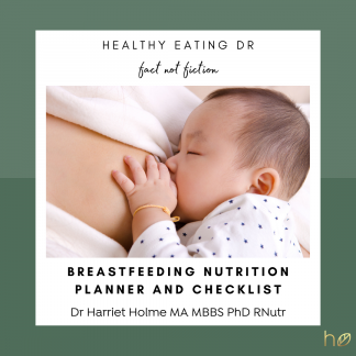 Get your FREE what to eat while breastfeeding nutrient checklist