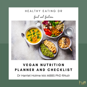 FREE Vegan Nutrition Planner And Checklist