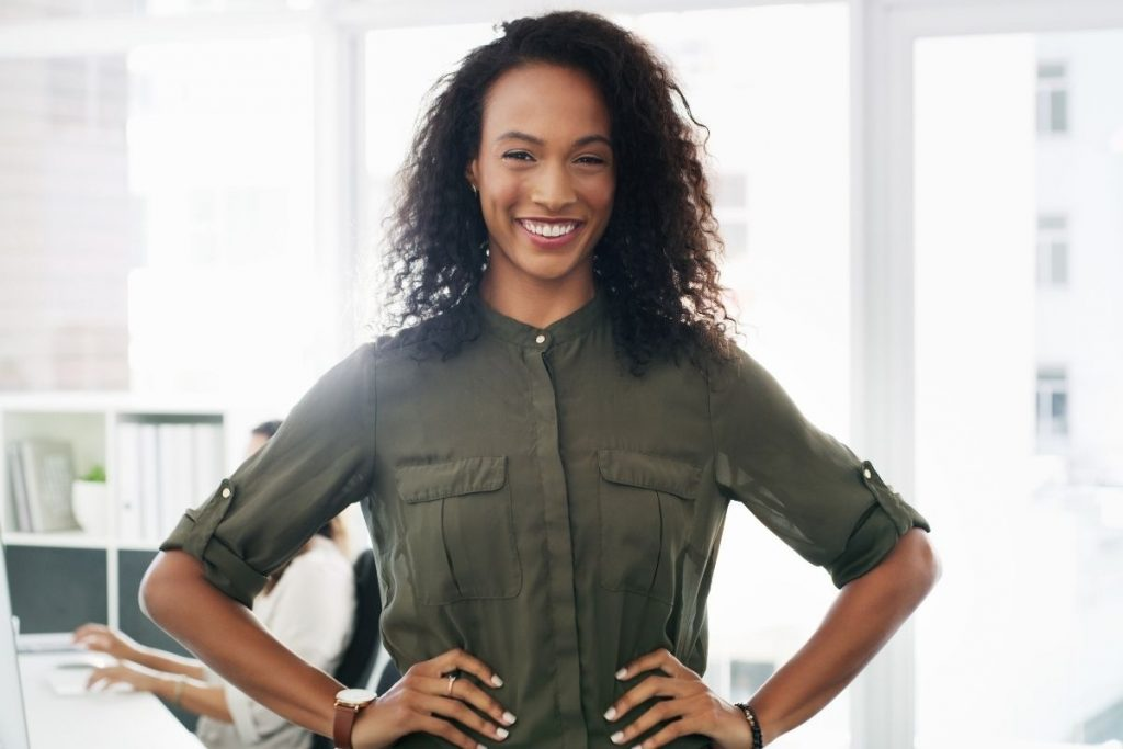 how to rediscover your purpose - black confident woman looking at the camera