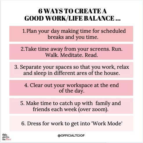 six ways to find the perfect work life balance